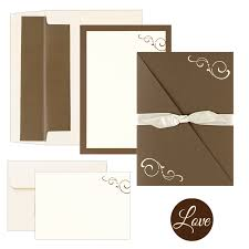 printable wedding invitation kits chocolate brown swirl pocket folder diy printable wedding