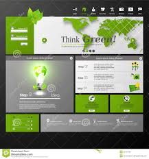 clean eco modern website template royalty free stock photos
