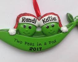 two peas in a pod ornament personalized christmas ornament cowboy boots newlywed