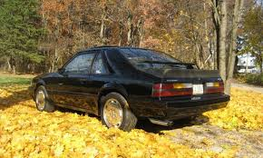 1985 mustang svo black 1984 svo ford mustang hatchback mustangattitude com photo