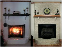 paint brick fireplace ideas painted wood mantle colors around red