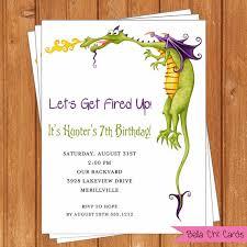 dragon kids birthday invitations kbi305diy editable printable