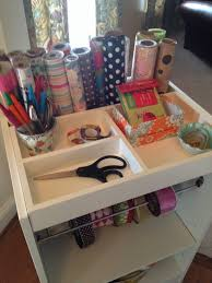 gift wrapping cart wrapping paper cart crate and barrel working it a s