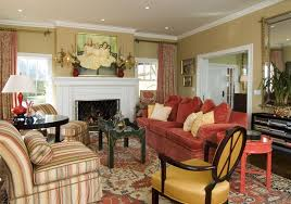gold and burgundy living room living room contemporary with