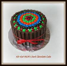 kit kat m u0026m u0027s dark chocolate cake cakecentral com