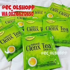Teh Detox jual clenx tea detox slim teh hijau organik langsing sehat