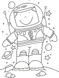 astronaut coloring pages pics about space 19185