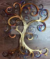 swirly tree metal wall whimsy humdinger designs