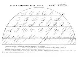 Penmanship Worksheets Spencerian Saturday Slanting The Letters The Graphics Fairy