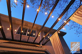 Decorating With String Lights Deck Decorating Ideas Pergola Lights And Cement Planters