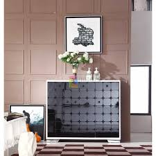 modern white u0026 black 3 door 3 drawers shoe cabinet living room