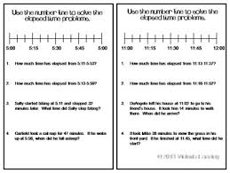 elapsed time on a number line task cards 3 md 1 4 md 2 by vickie