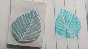 how to carve a leaf eraser stamp diy crafts tutorial