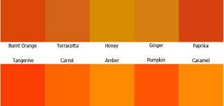 shades of orange names orange colour shades names google search funny decor pinterest