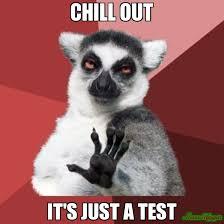 Test Meme - chill out it s just a test meme chill out lemur 1130 memeshappen