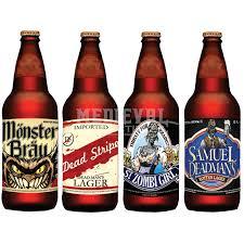 halloween goblets halloween slapsticker beer bottle labels mb m36661 by medieval