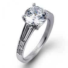 simon g engagement rings simon g caviar mr2219 side engagement ring mounting