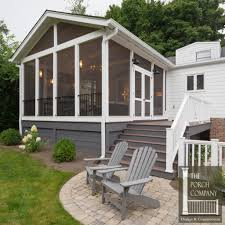 screened porch and garage oasis porch companythe porch company
