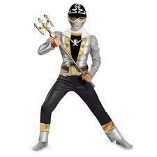 Power Rangers Halloween Costumes Adults Power Rangers Boys U0027 Special Silver Muscle Ranger Halloween Costume