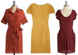 fall color frocks