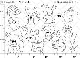 Woodland Animals Coloring Pages Funny Coloring Woodland Animals Coloring Pages