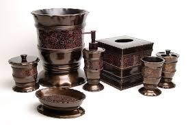 Bathroom Ensembles Venetian Bronze Bathroom Accessories Collections In Bed Bath And
