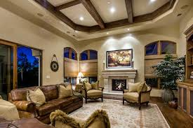 Tuscan Vineyard Estate Mediterranean Family Room San - Tuscan style family room