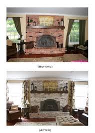 White Washed Stone Fireplace Life by Diy White Washing Brick Tutorial Using Latex Paint Sherwin