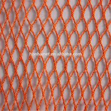 orange colour polyester fishing net mesh buy knotless polyester