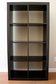 Leaning Bookcase Ikea Furniture Ikea Expedit Bookcase In Black On White Wall For Best