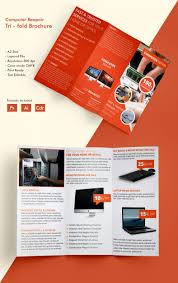 office brochure templates beautiful computer repair a3 tri fold brochure template free