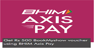 bookmyshow offer axis pay upi app offer get free rs 500 bookmyshow voucher