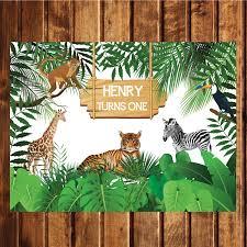 jungle backdrop printable safari animals jungle birthday backdrop poster