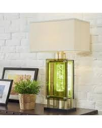 green glass l shade new shopping special elda rectangular shade green glass nickel