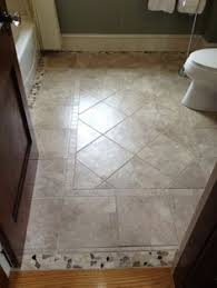 floor tile designs for bathrooms mosaic tile as transition way to use broken pieces of tile