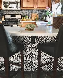 kitchen stencils designs a stenciled kitchen island in black and white using the augusta tile