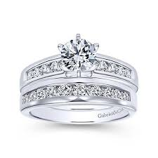 wedding rings setting images Six prong channel set engagement ring gabriel co er2200 jpg