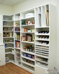 l shaped pantry one wall shelves corner shelf other wall bench