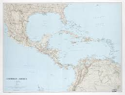 Political Map Of Mexico Large Scale Political Map Of The Caribbean America With Relief