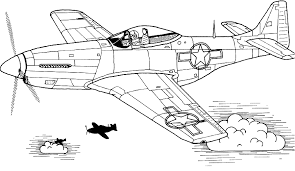 coloring mustang aircraft picture aviation art 5799