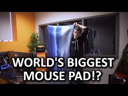 giant mouse pad for desk holy h t biggest mousepad in the world youtube