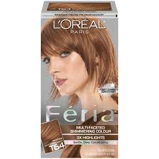 haircolor for 64 yr old woman l oreal t64 light coppery brown hair color 1 kt box beauty