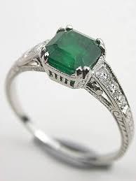 vintage emerald engagement rings edwardian inspired vintage emerald engagement ring rg 3216