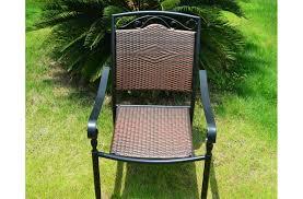 lila outdoor indoor wrought iron and wicker garden chair