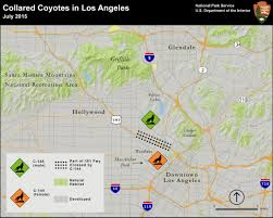 Griffith Park Map Coyotes Of L A U0027s Urban Core Using Science To Separate Fact From
