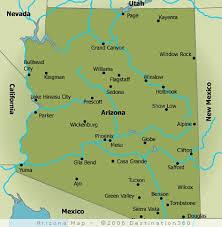 us map arizona state map of arizona cities map of usa states