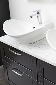Black Bathroom Vanity Units by Miller London Black Vanity Unit With Carrara Marble Work Top Svart
