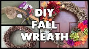 diy how to make a fall wreath youtube