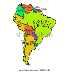 map of south america in south america stock images royalty free images vectors