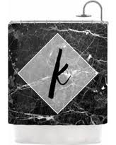 Kess Shower Curtains Deals On Kess Inhouse Kess Original U0027black Marble Mosaic U0027 Shower